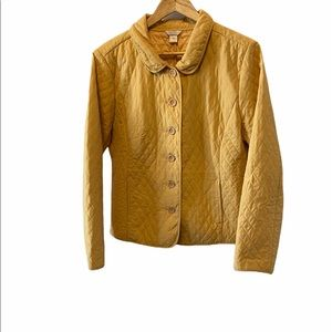 CHRISTOPHER&BANKS Quilted Yellow Button Jacket XL